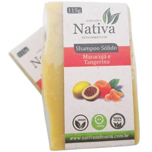 Shampoo Sólido Natural - Maracujá e Tangerina - Nativa Ecocosméticos