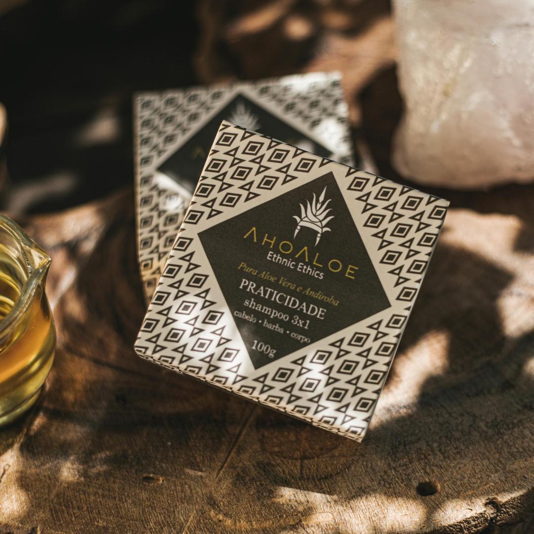 Shampoo Sólido Natural - Praticidade 3x1 - AhoAloe   - SALVIA