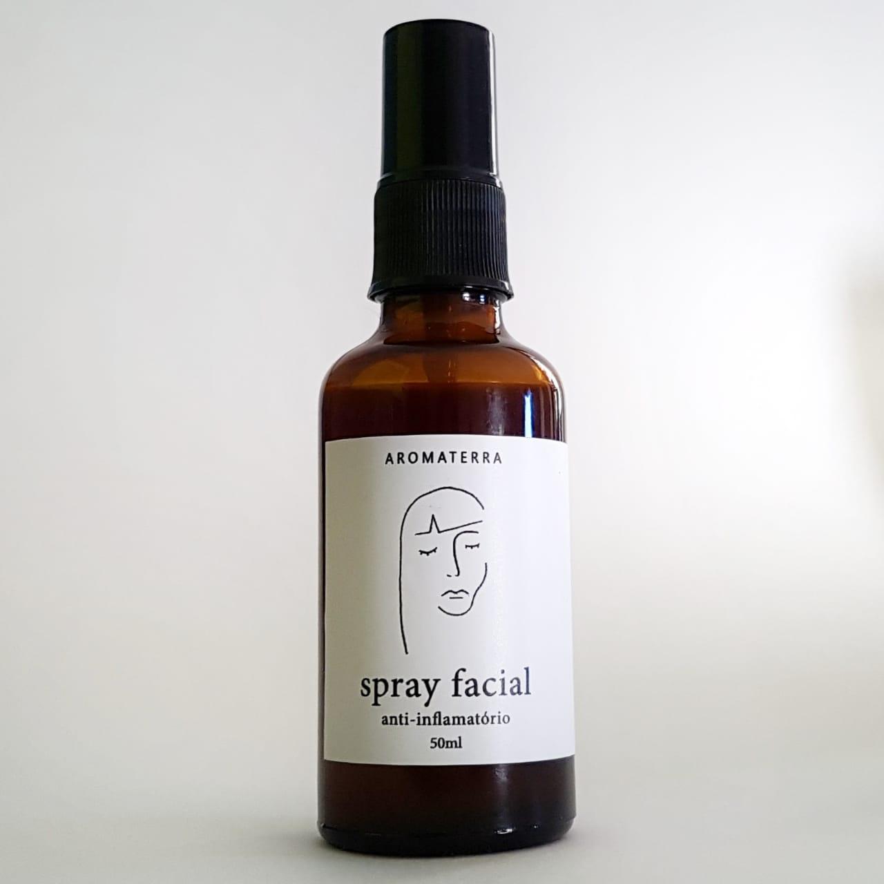 Spray Facial Natural - Anti-inflamatório - Aromaterra Botânica  - SALVIA