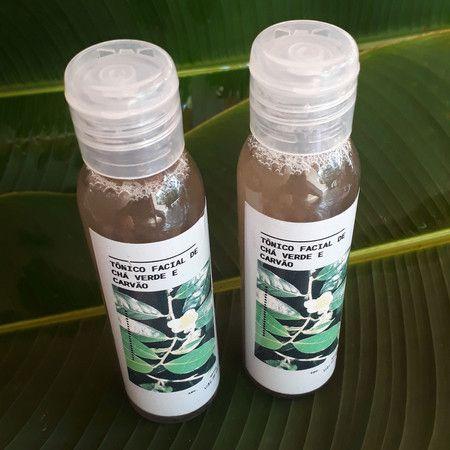 Tônico Facial Natural - Chá Verde e Carvão - Brisa no Ar  - SALVIA