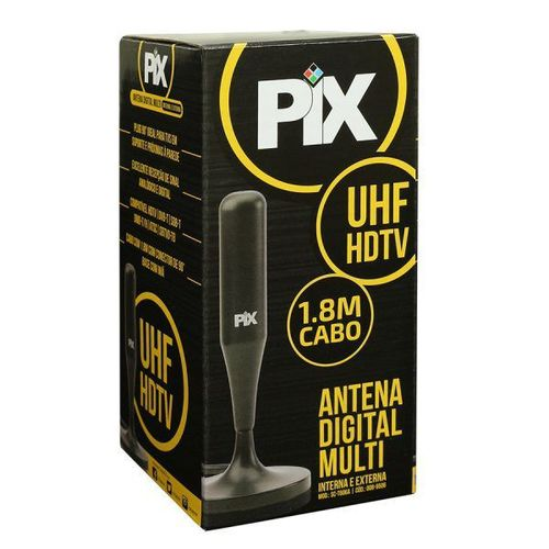 Antena Digital 4 Em 1 Hdtv Vhf Uhf  Cabo 1.8 Mt