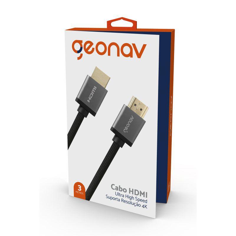 CABO HDMI 2.0 3.0M COR PRETA - 4K