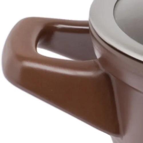 Jogo de Panelas Ceraflame Cerâmica Duo Smart Chocolate - 5 Peças - Tampa em Vidro
