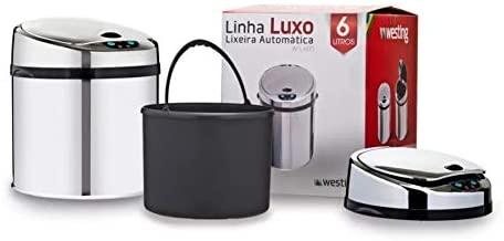 LIXEIRA AUTOMÁTICA WTL-600 6L LINHA LUXO SENSOR DE PROXIMIDADE (Peça de Mostruário)
