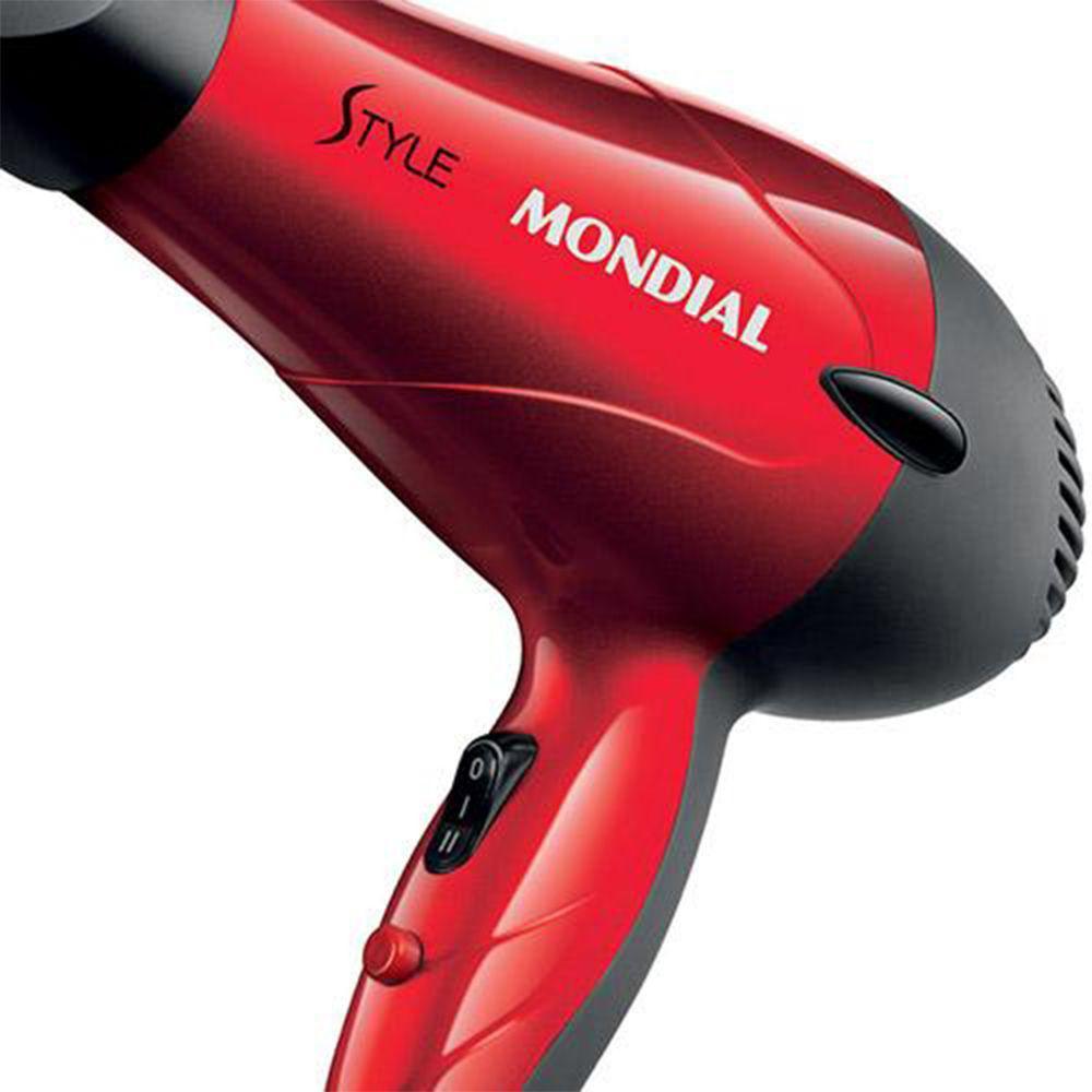 Secador de Cabelo Mondial Style Sc-11 Vermelho 22V 1200W