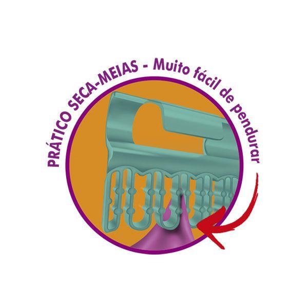 VARAL DE TETO MONACO - ACO - BRANCO - 1,2M