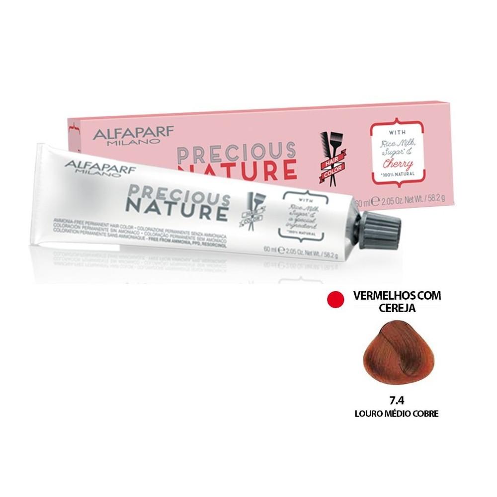 Alfaparf Coloração Precious Nature Hair Color 7.4 60 Ml