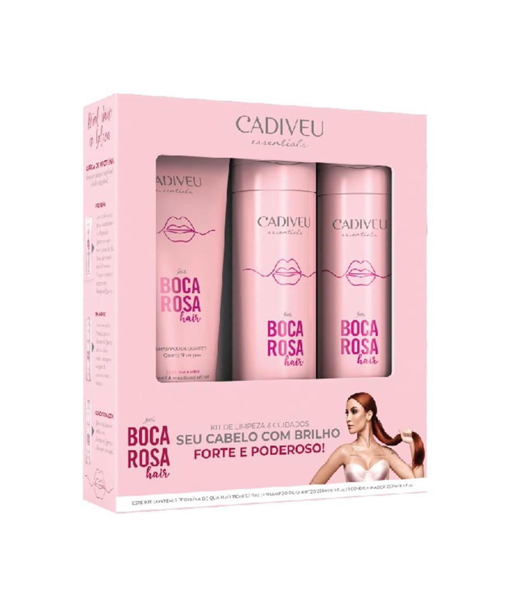 Cadiveu Kit Boca Rosa Shampoo + Cond. 250ml + Proteína 150ml