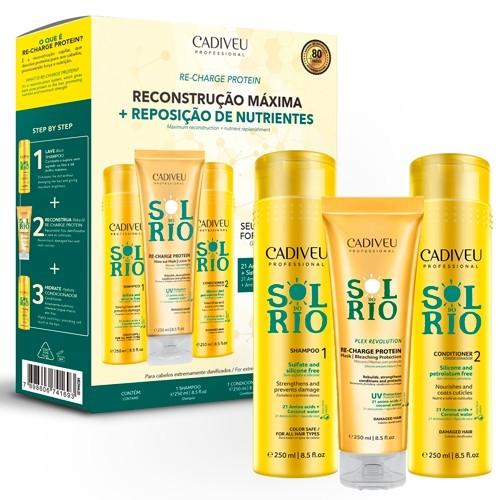 Cadiveu Sol do Rio Kit Re-Charge Protein (3x250ml)