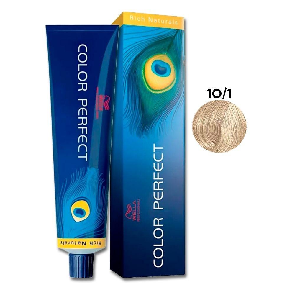 Wella Color Perfect 10-1 Coloração Louro Claríssimo Acinzentad 60g