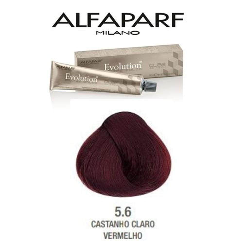 AlfaParf Coloração Evolution Of The Color 60ml - 5.6 Castanho Claro Vermelho