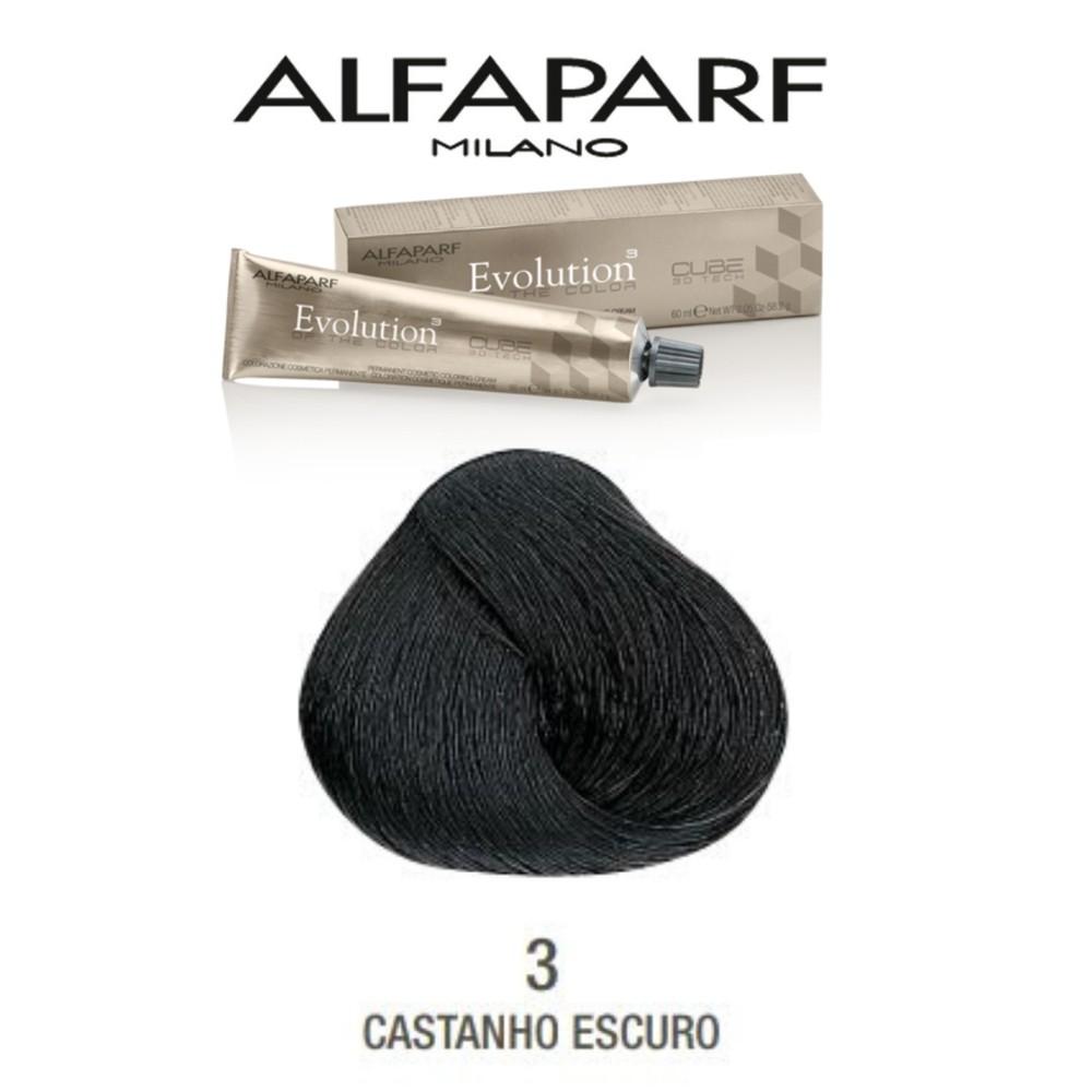 Alfaparf Coloração Evolution  nº3 - Castanho Escuro