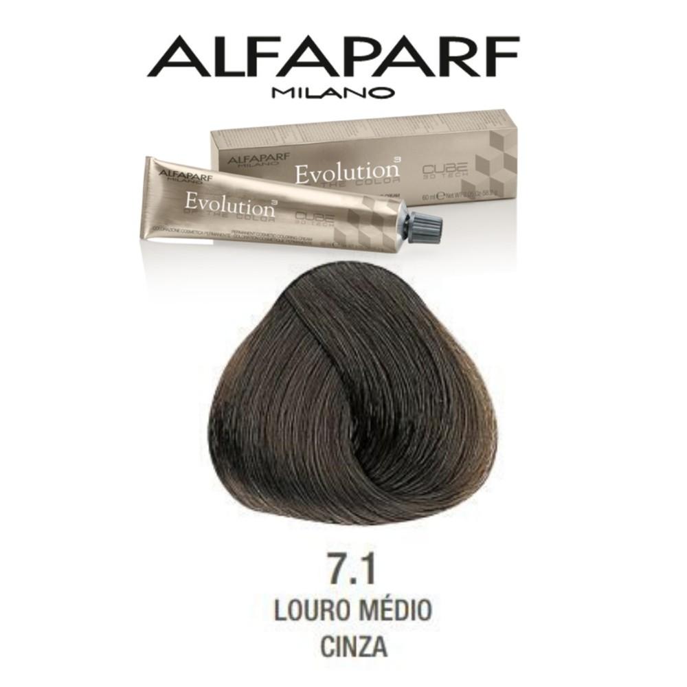 Alfaparf Coloração Evolution  nº7.1 Louro Médio Cinza