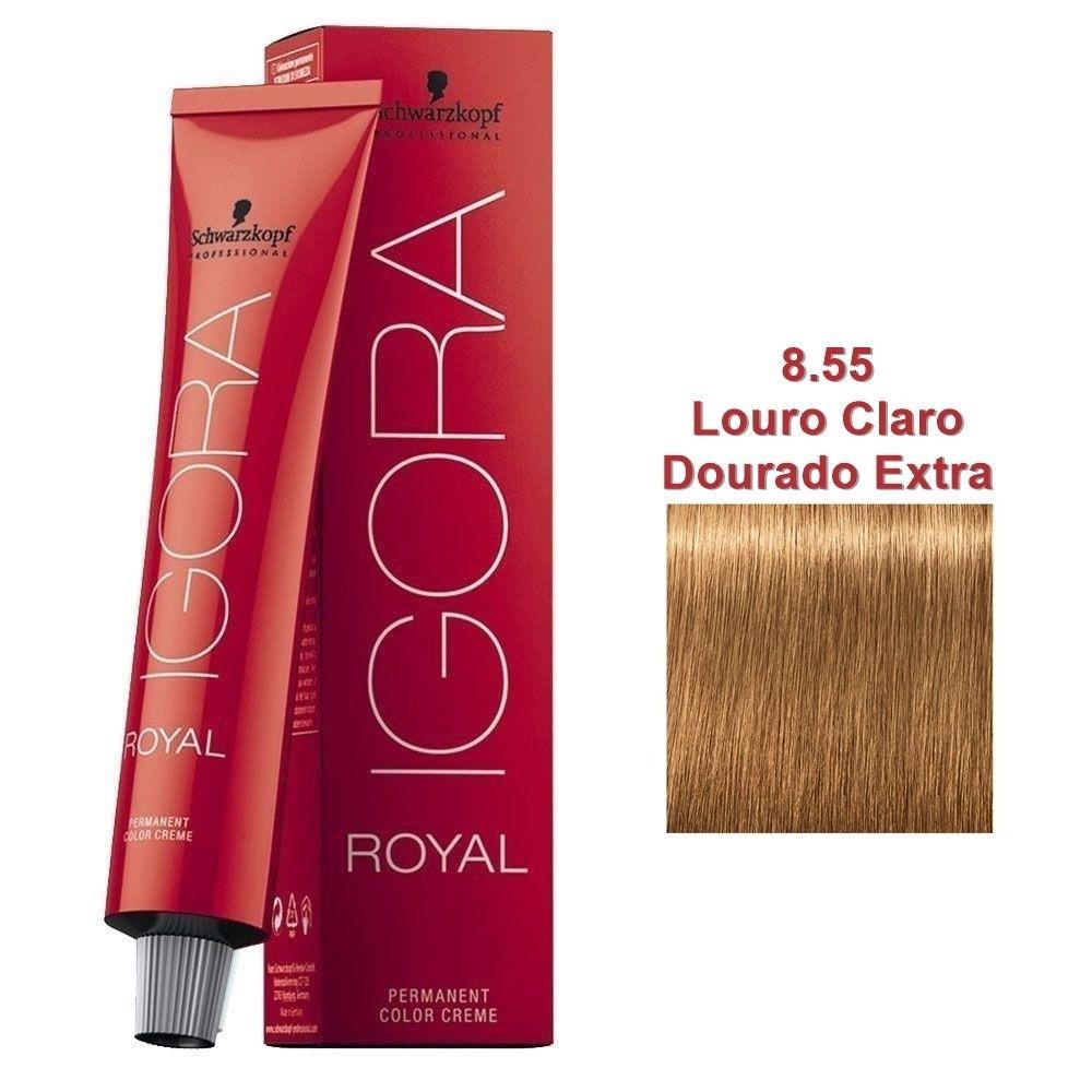 Schwarzkopf Igora Royal Coloração 8.55 Louro Claro Dourado Extra