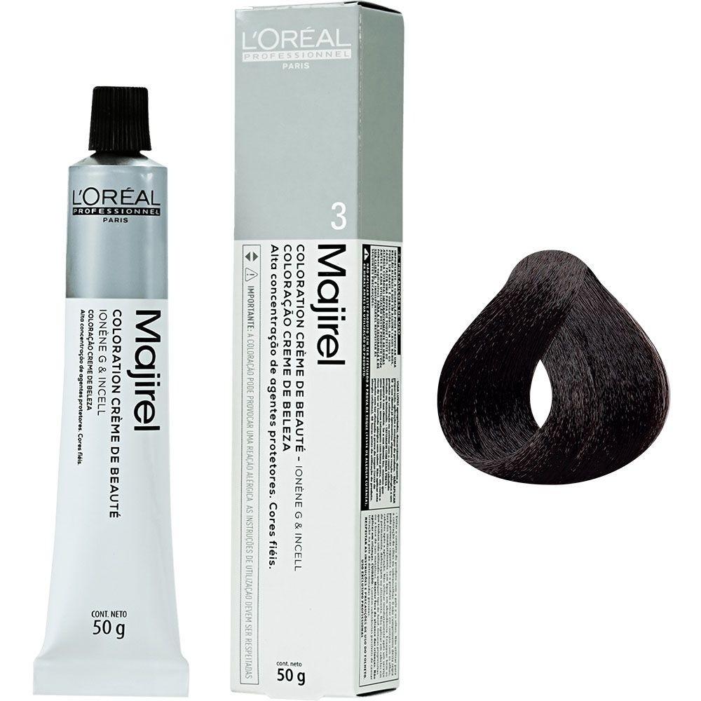 L'Oréal Majirel 3 Coloração Castanho Escuro 50g