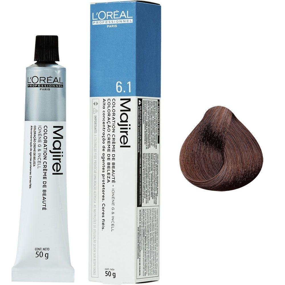 L'Oréal Coloração Majirel 6.1 Louro Escuro Acinzentado 50g