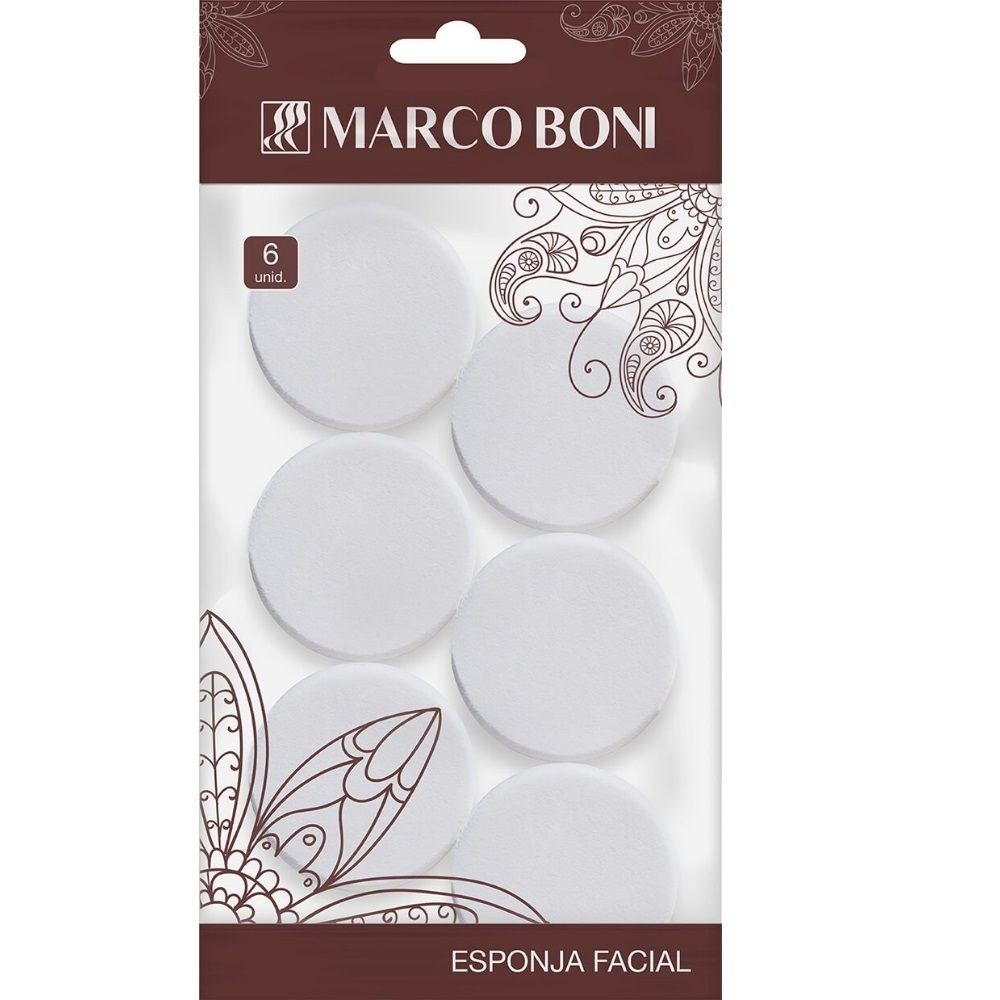 Marco Boni Conjunto Com 6 Esponjas Limpeza Maquiagem Facial