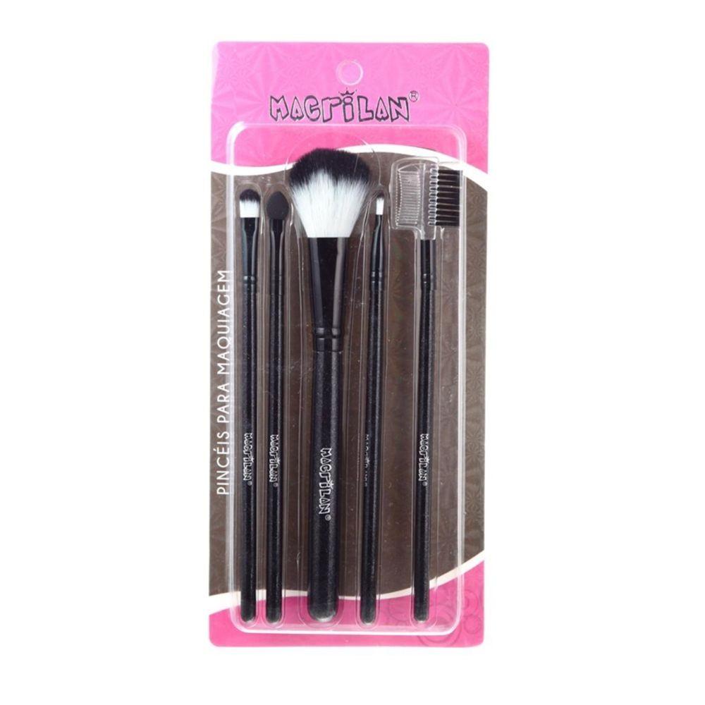 Macrilan Kit Pincéis para Maquiagem - 5 unidades