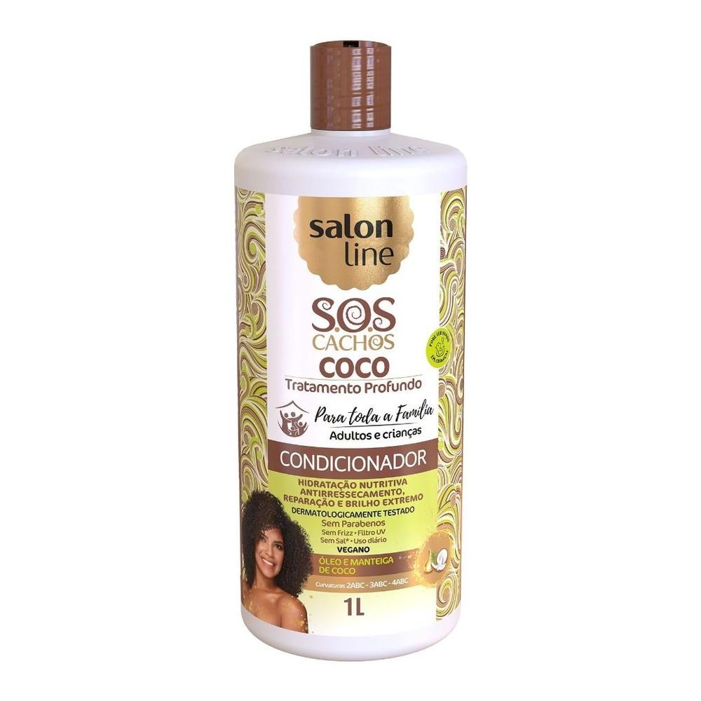 Salon Line Condicionador Coco Tratam Prof SOS Cachos 1L