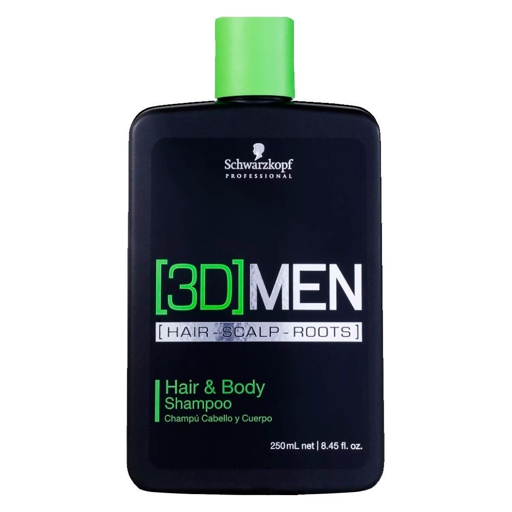 Schwarzkopf Shampoo 3D Men Hair & Body 250ml