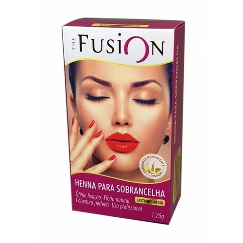 The Fusion Henna para Sobranchelha Castanho Escuro