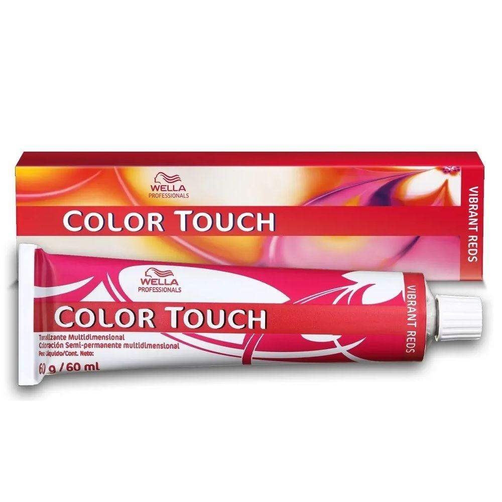 Wella Tonalizante Coloração Semi-permanente Color Touch 60g - Vibrant Reds 6/45 Louro Escuro Vermelho Acaju