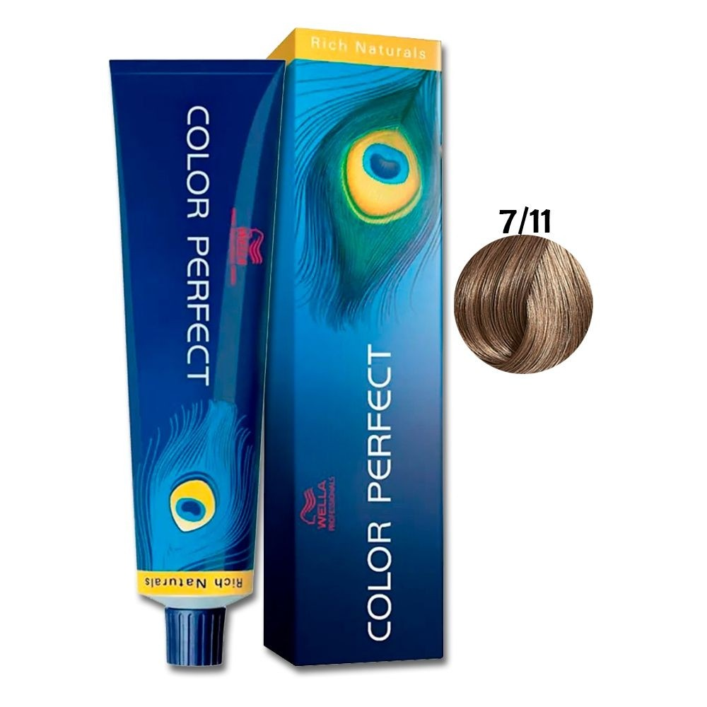 Wella Color Perfect 7-11 Louro Médio Cinza Intenso 60g