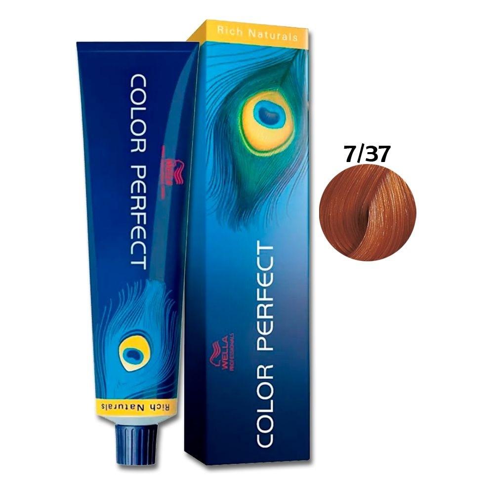 Wella Color Perfect 7-37 Louro Médio Dourado Marrom 60g