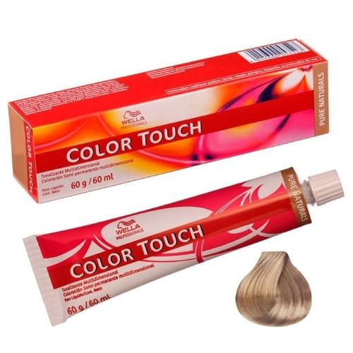 Wella Color Touch 9/01 Louro Ultra Claro Natural Acinzentado 60g