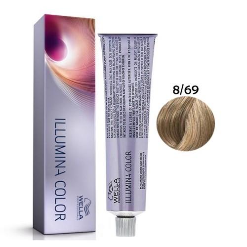 Wella Illumina Color 8-69 Louro Claro Violeta Cendré 60g