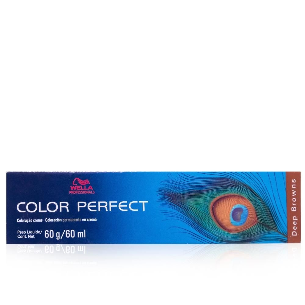 Wella Professionals Color Perfect Deep Browns 66/71 Louro Escuro Intenso Marrom Acinzentado