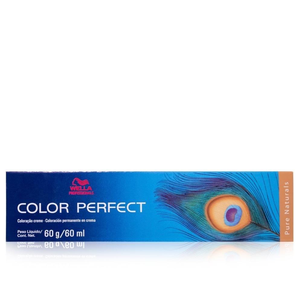 Wella Professionals Coloração Color Perfect Pure Naturals 7/01 Louro Medio Natural Acinzentado 60m