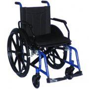 Cadeira De Rodas Dobrável Aço Carbono H10 Azul -Cds