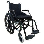 Cadeira De Rodas Dobrável Aço Carbono H10 Preta - Cds