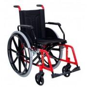 Cadeira De Rodas Dobrável Aço Carbono H10 Vermelha - Cds