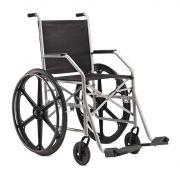 Cadeira de Rodas Dobrável Epoxi Pneus Infláveis Cinza 1009PI - Baxmann Jaguaribe