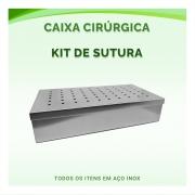 Caixa Cirúrgica de Instrumentais Kit de Sutura - ABC