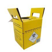 Coletor de perfurocortante 1.5 litros pt. com 10 unid. Descarbox