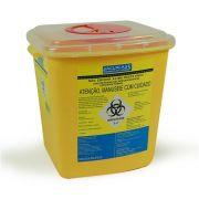 Coletor Rígido Quimioterápico Para Material Perfurocortante 7 litros - Vacuplast