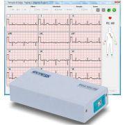Eletrocardiógrafo 12 derivações Para Uso em Notebook ou Desktop ECG-12S PC Com Software para Windows - Ecafix