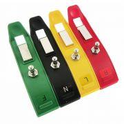 Eletrodo de Membros Cardiológico Reutilizável Adulto Cardio Clip Color C/ 4 Unid. - FBras