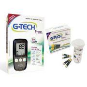 KIT Medidor de Glicose Glicosímetro Free 1 (glicosimetro) Com 60 Tiras - G-Tech