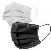 Máscara Cirúrgica Tripla Descartável TNT C/ Elástico 50 Unid.