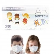 Máscara Descartável Infantil Tripla C/ Elástico C/ 25 Unidades - Bio