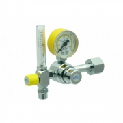 Válvula Reguladora Para Cilindro Com Fluxômetro Ar Comprimido VF020 - Unitec