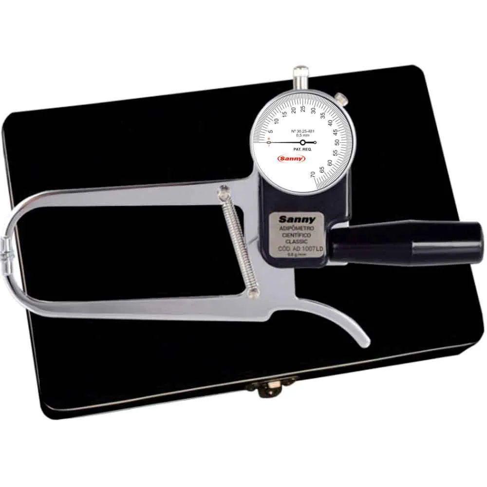 Adipômetro Plicômetro Científico Classic AD1007-LD (Leitura Direta Com 1 Ponteiro) - Sanny