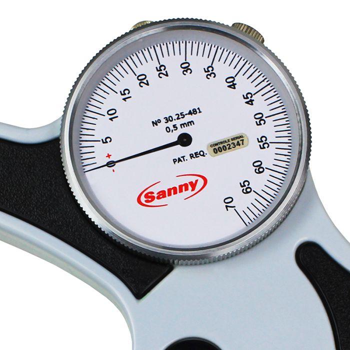 Adipômetro Plicômetro Científico Leitura Direta C/ 1 Ponteiro AD1011-LD - Sanny