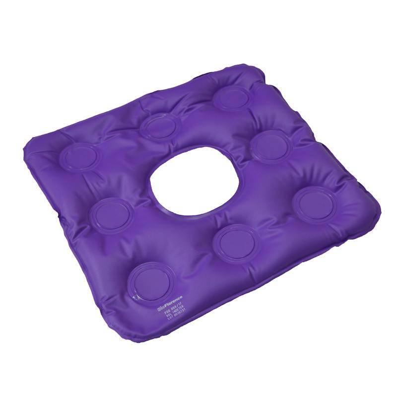 Almofada Caixa De Ovo Inflável Quadrada C/ Orifício - BioFlorence