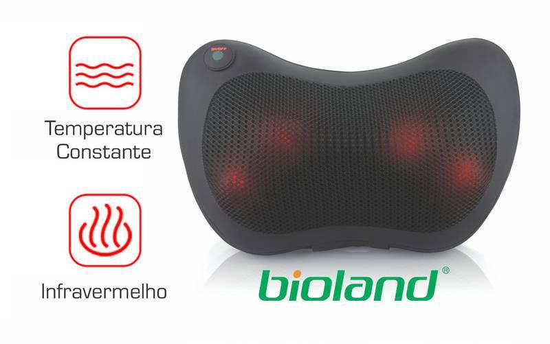 Almofada Massageadora com Shiatsu com Adaptador Veicular AM100 - Bioland