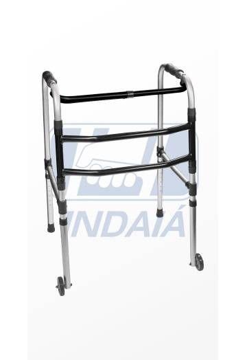 Andador Dobrável Alumínio 3 Barras Com Rodas (AN3R) - Indaia